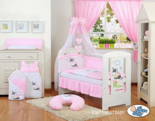 set complet set XXL de 15 pièces couleur rose My sweet Baby Lit pour bébé