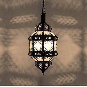 Lanterne-Orientale-Lampe-Arabe-Marocaine-Lampe-Suspendue-Titia-Verre-Depoli