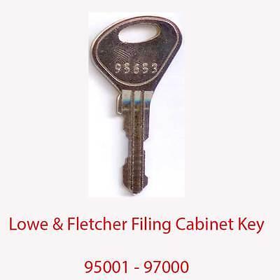 Bereidwillig Lowe & Fletcher Replacement Filing Cabinet Key 95001 - 97000 Om Een Hoge Bewondering Te Winnen