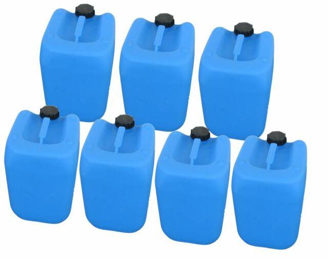 6 x 30 L gebrauchter Kanister blau Plastekanister