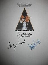 A Clockwork Orange Signed Film Script Stanley Kubrick Malcolm McDowell reprint