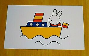 039-WITH-LOVE-FROM-MIFFY-039-PRINTED-POSTCARD-MIFFY-TAKES-A-BOAT-RIDE-DICK-BRUNA