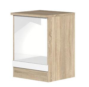 herdumbauschrank 60 cm breit weiss sonoma eiche dekor ebay. Black Bedroom Furniture Sets. Home Design Ideas