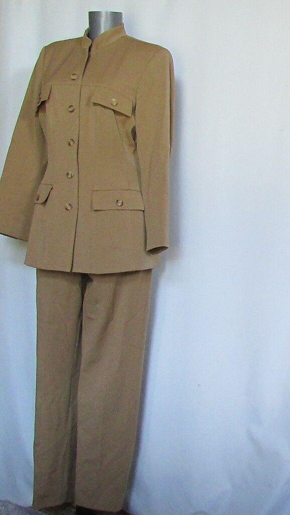 New NWOT Elliott Lauren USA camel tan travel lined all season pant suit 8 31L