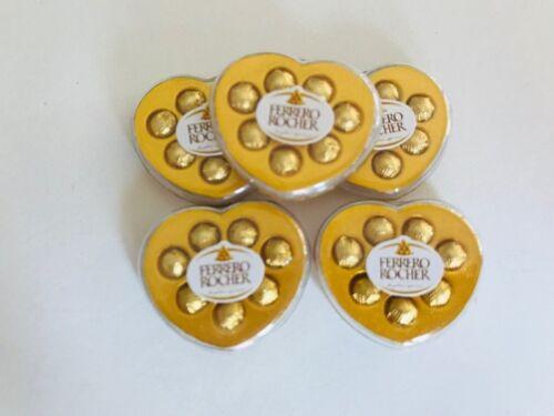 Dollhouse Miniatures Heart Box Ferrero Rocher Chocolate Ball Valentine Gift 1:12