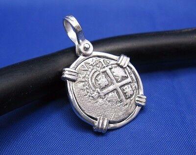 Shipwreck Coin Necklace Atocha Jewelry Spanish Doubloon Pirate Cob Pendant .925