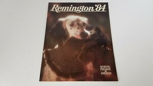 1984 Remington Firearms + Ammunition Catalog Hunting Dog Guns Illus. Vtg  S8