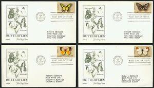 #1712-1715 13c Mariposas, Artmaster FDC Cualquier 4=