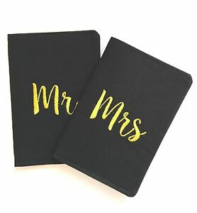 a4a5825bb Image is loading Mr-and-Mrs-Passport-Cover-Holder-Set-of-