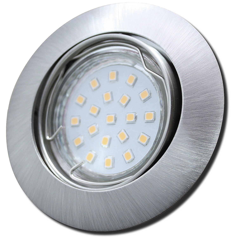 5 x SMD LED Einbauleuchte Jan   230V   ALU   Einbauspots   3W=30W   IP20   EEK A