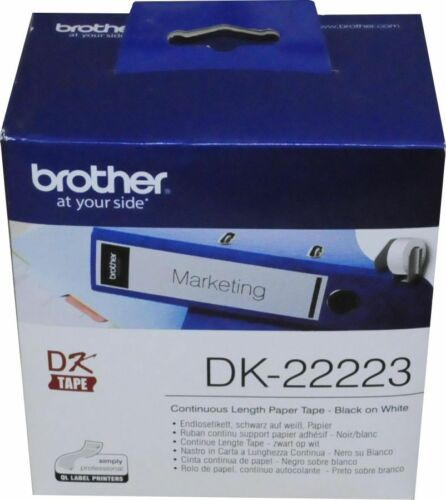 "2/"" von brother 0,45€//1m DK-22223 Etikett endlos white 50mm x 30,48m"