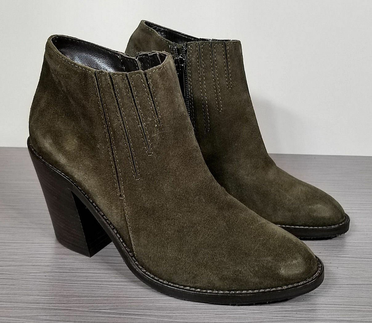 Aquatalia Loren Weatherproof Bootie, Herb Green Suede, Womens Various Various Various Sizes 5e4300