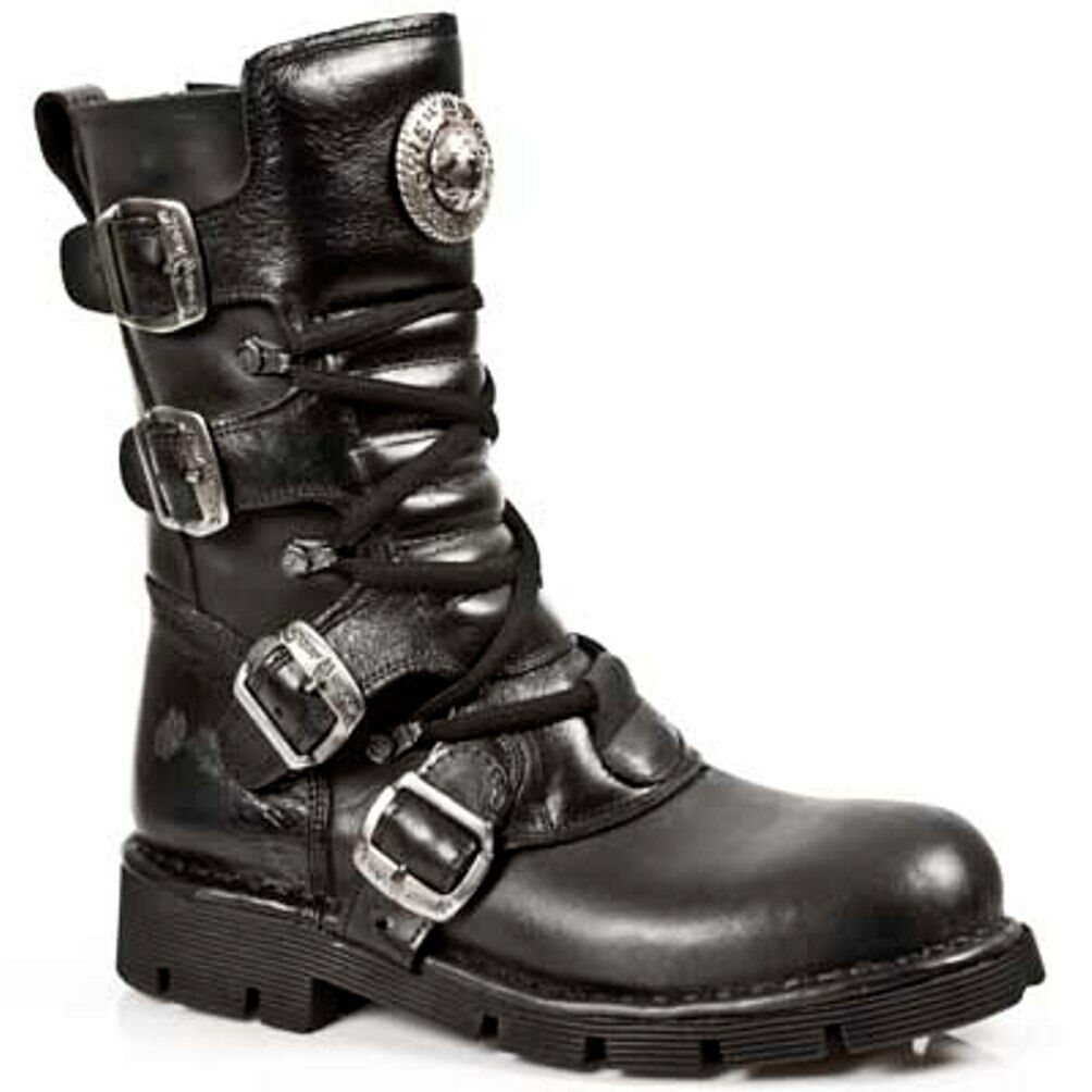 New Rock botas Unisex Punk Gothic botas - Style 1473 S1 negro