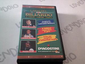 L'ARTE DEL BILIARDO - Mondiale pro Lotti - Mannone VHS DeAgostini