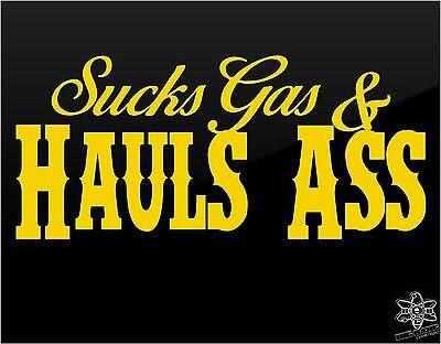 SUCKS gas hauls ASS Funny Decal Truck Window Die Cut Sticker V8,Diesel,Suburban