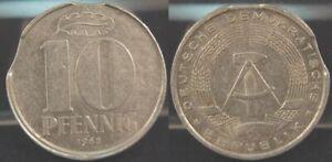 GDR, 10 Pfennig 1968, Lack Coinage With 2 Zainenden Very Fine