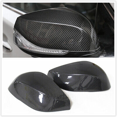 Infiniti Q50 Q60 QX30 Q70 Pair Side Mirror Cover Cap Replacement Black For 2014