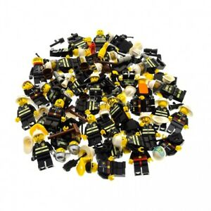 5-x-Lego-System-City-Mini-Figuren-Feuerwehr-Mann-Town-fire-Figur-Feuerwehrmann-s