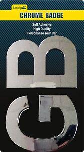 GB-Letters-Stick-On-Badge-Metal-Chrome-Effect-3D-Logo-Decal-Emblem