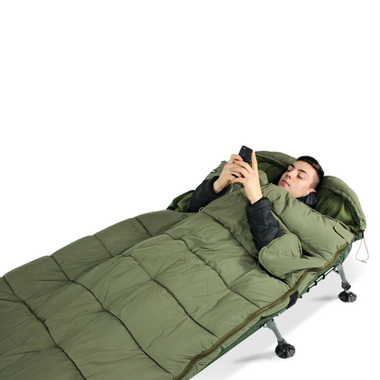 ABODE  Cloud 9 All-Season Peach Skin H Fill Carp Fishing Camping Sleeping Bag
