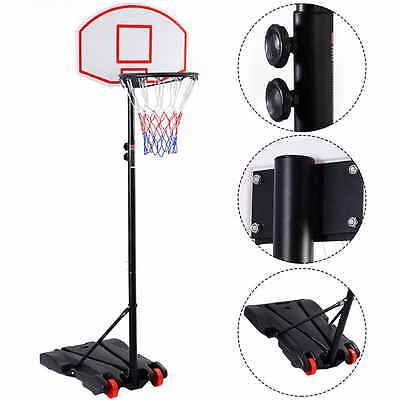 Panier de basket sur pied mobile avec des roues  réglable de 165 à 215cm