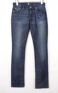 7 For All Mankind Hommes Extensible Jambe Droite Jean Taille W27 L34 BEZ408