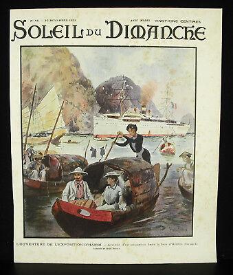 Attent Hanoi Exhibition 1902 Exposition Paquebot Baie D'along Vietnam Colonies Journal Warme Lof Van Klanten Winnen