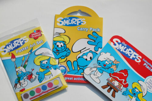 The Smurfs Activity Packs - 3 Types - Poster Art - Carry Pack - Colour Placemats