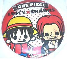 【One-piece】Luffy & Shanks Big cans badge rare japan anime popular pansonworks
