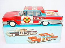 FSC Italy 1:18 FORD GALAXY CROWN VICTORIA Fire Chief Friction Tin Toy Car MIB`62