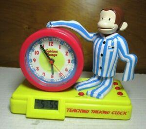 Working-1999-Curious-George-Adventures-Analog-amp-Digital-Teaching-Talking-Clock