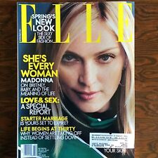 2001 FEBRUAR ELLE MAGAZINE - MADONNA, ROCKABILLY, SLIP DRESSES, FASHION, VERSACE