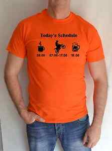 KTM-TODAYS-SCHEDULE-BLACK-amp-ORANGE-BIKE-MOTORCYCLE-FUN-T-SHIRT