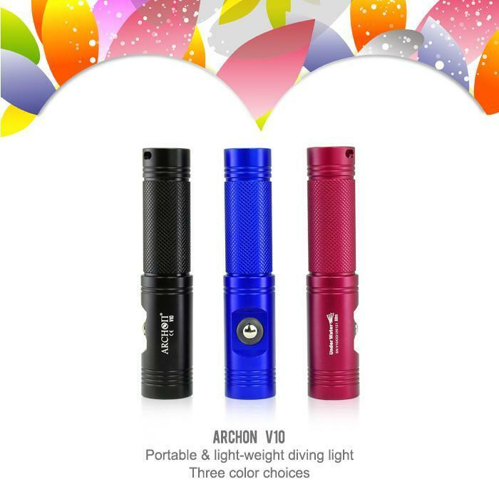 ARCHON Diving Flashlight V10  (Battery not included)