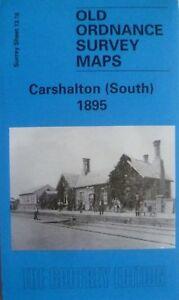 OLD-ORDNANCE-SURVEY-MAPS-CARSHALTON-South-SURREY-1895-GODFREY-EDITION-NEW