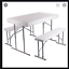 thumbnail 1 - Portable Table And 2 Benches Set Folds Flat For Easy Storage And Transportation