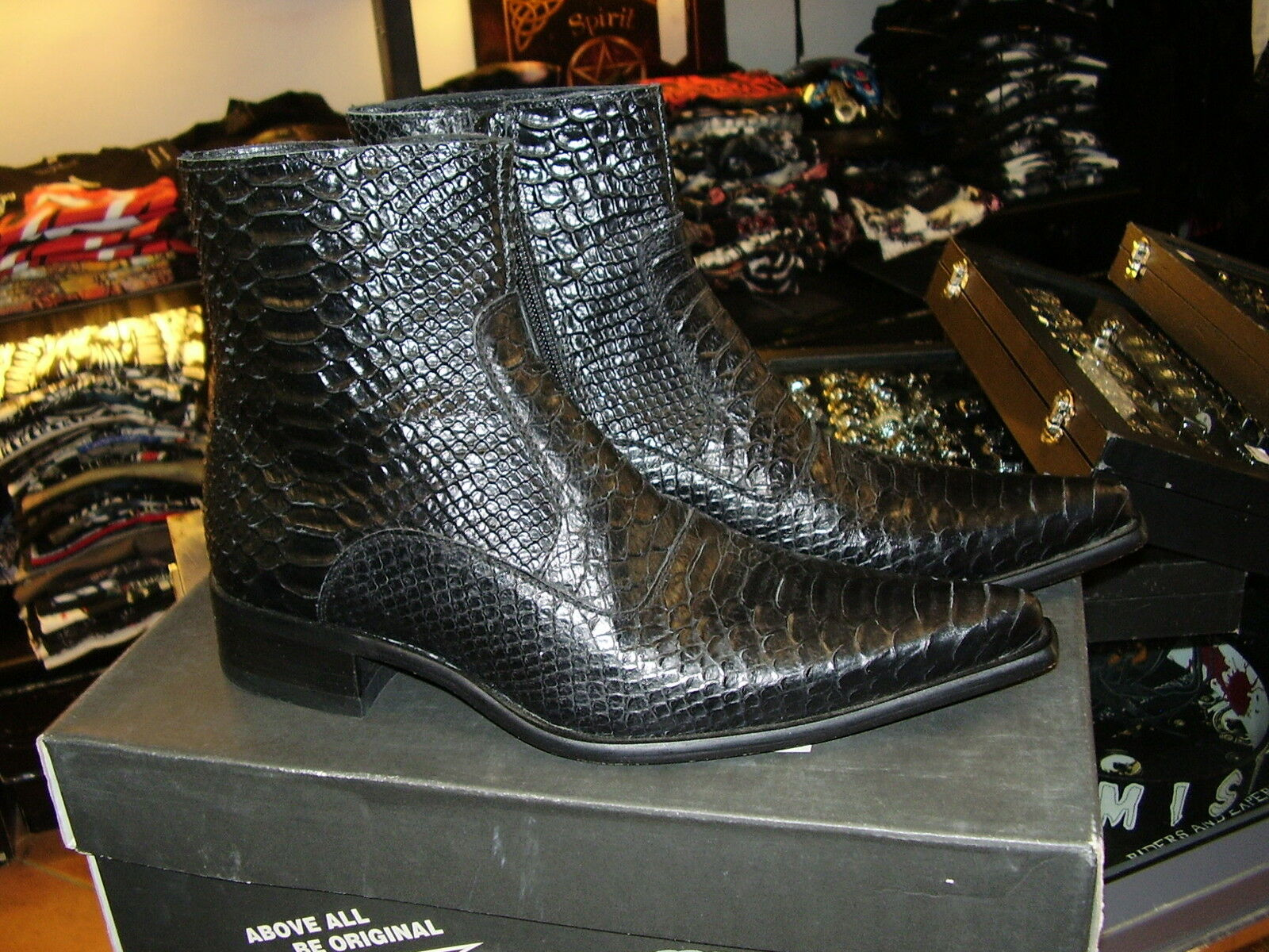 Stivaletti Newrock New Rock punta stampa pitone boots real leather leather real solo 39! 773c41