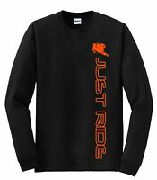 Motocross T Shirt Just Ride Long Sleeve Moto Mx Dirt Bike Supercross