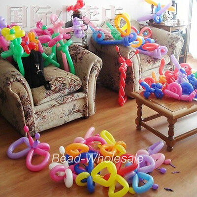 10/100pcs Magic LONG ANIMAL TYING Balloons twist Latex Balloons Mixed Color
