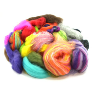 500g-of-Roving-Top-Waste-Botany-Lap-Waste-Wool-Ends-Felting-Spinning