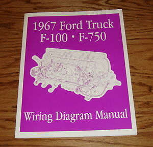 1967 ford truck f 100 f 750 wiring diagram manual brochure 67 ebay pickup wiring image is loading 1967 ford truck f 100 f 750 wiring