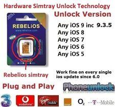 Premium desbloquear Reino Unido EE Iphone 4S IOS 9.3.5 rebelios (Nano) smarttray a anysim