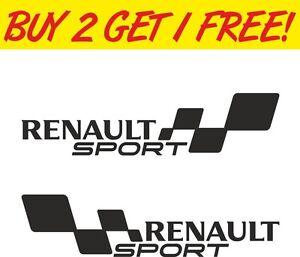2 X Renault Sport Drapeaux Van Fenêtre Drôle Jdm Vw Dub Vag Euro Vinyl Decal Sticker-afficher Le Titre D'origine Les Consommateurs D'Abord