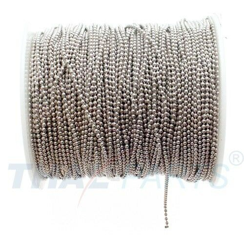 100m Kugelkette 1,5mm Silbern auf Rolle Kugelketten Kugelkette Kette Ketten