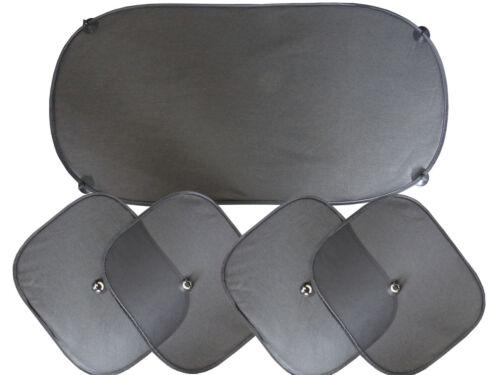 Auto Sonnenblende 5 tlg mit  8 Saugnäpfen Auto-Sonnenschutz Set