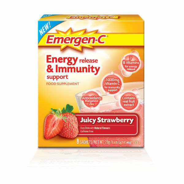 Emergen C Juicy Fresa 8 Paquetes