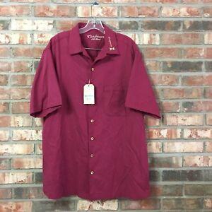 Men/'s Big /& Tall Caribbean Roundtree /& Yorke Hawaiian Button Front Shirt