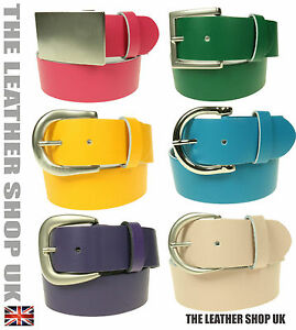 40mm-Da-Donna-Coloratissimo-In-Tantissimi-Buckle-Design-Cintura-Vera-Pelle-Mano