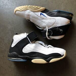 7d1813f127 Men's 2005 Nike Air Max Penny Hardaway 4 Four White Black Royal Sz ...