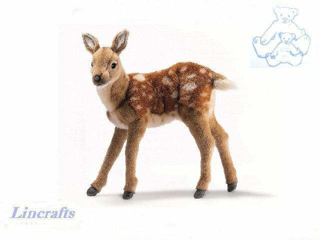 Hansa Standing Deer 5017 Plush Soft Toy Sold by Lincrafts Established 1993
